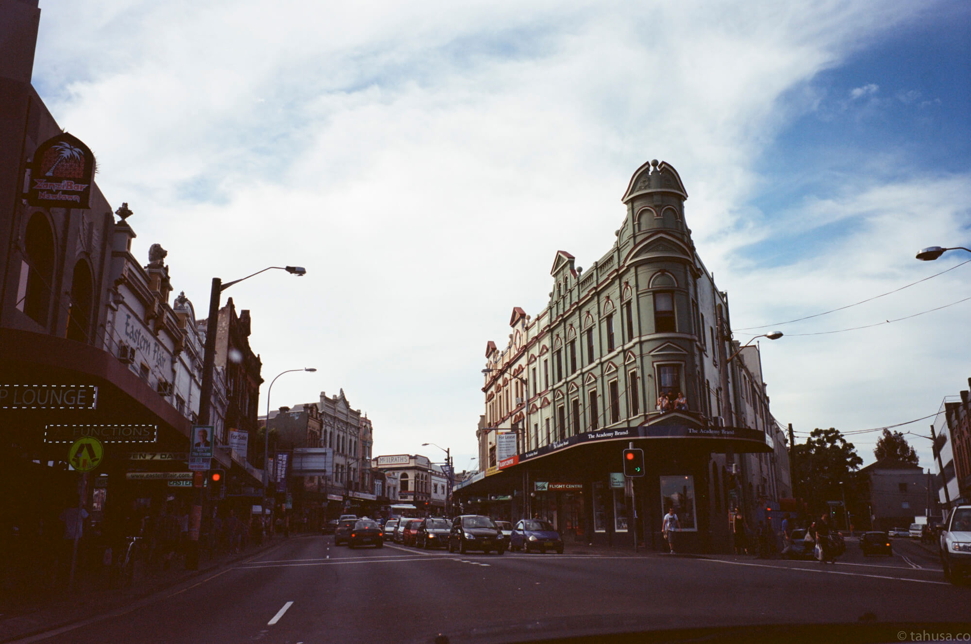 visiting-new-town-sydney-Australia-using-Fuji-fujifilm-Klasse-W-28mm-f2.8-snapshot-point-and-shoot-Klasse-Kodak-Ektar-100-iso-low-speed-film-photography-shooter-Leica-lens-travel