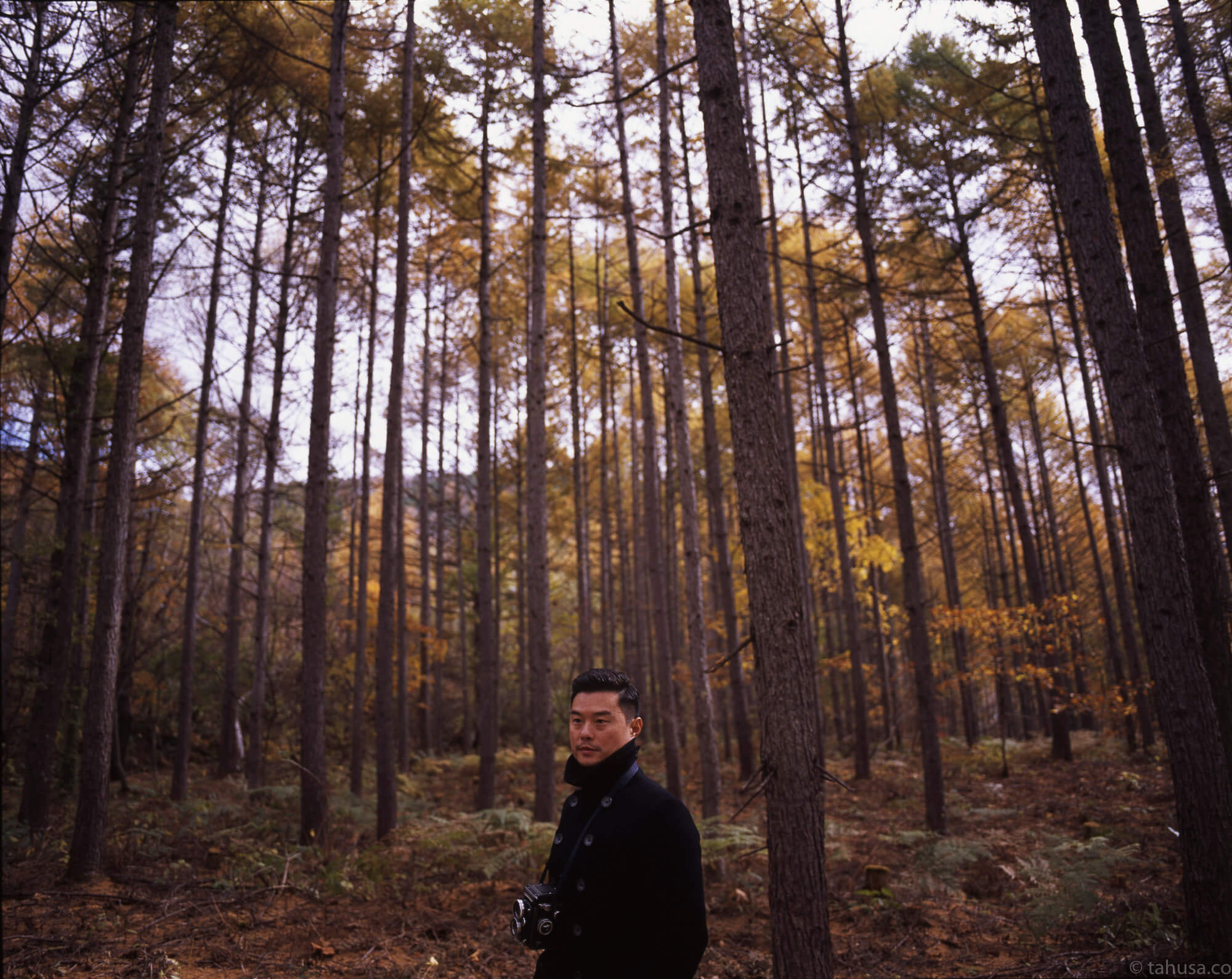 Japan-Travel-trip-with-family-Gary-in-forest-pentax-67-6x7-medium-format-120-120format-RDPIII-RDP-Provia-Fuji-Fujifilm-Japan-Gunma-Snap-55mm-f4-asahi