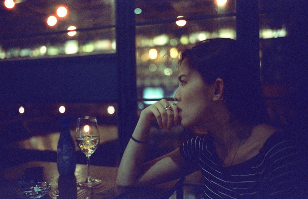 Fay-happy paradise-Hong Kong-LKF-Lan Kwai Fong-Dinner Time-Meet up-CineStill 800T-Tungsten-Noctilux-50mm-Leica-Night-Neon light-HK-Portrait 3