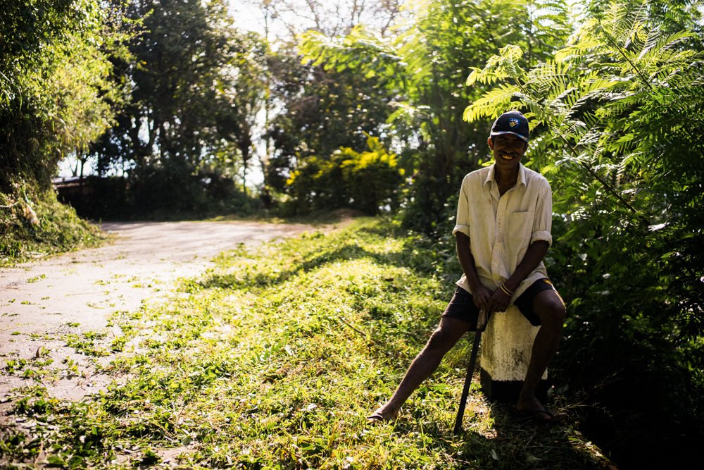 Man-main-road-chopping-timber-ella-tea-plantation-Sri-Lanka