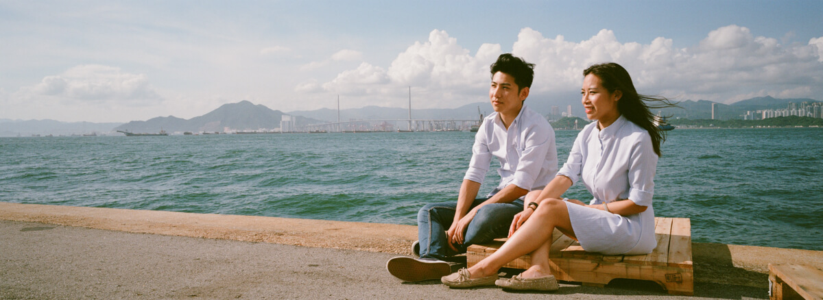 Jacqueline-carson-prewedding-shot-sai-wan-pier-memory-before-marriage-Hong-Kong-city-photowalk-Agfaphoto-agfa-vista-plus-400-iso400-film-negative-snap-Xpan-Hassel-Hasselblad-XpanII-45mm-f4-wide-pano 3
