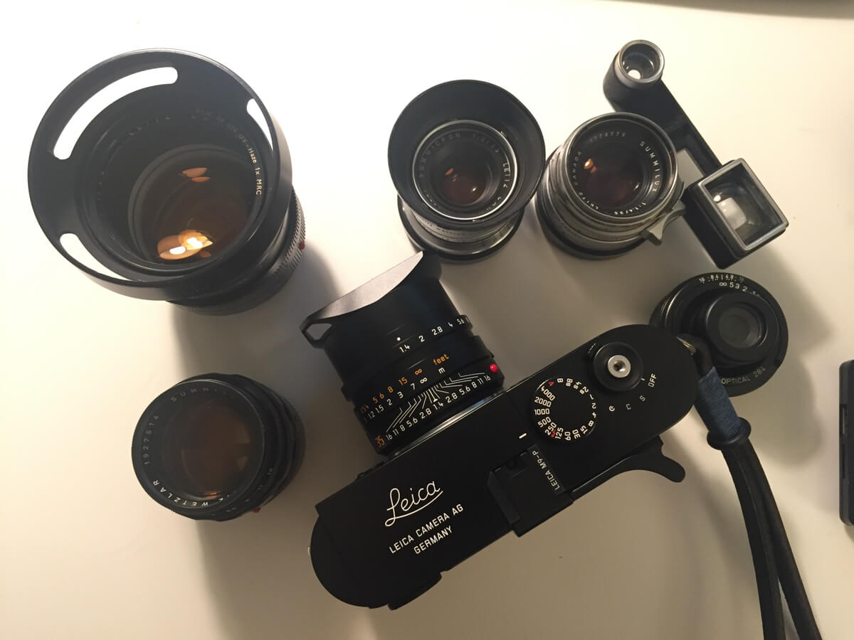 Leica-M9P-on-table-with-summilux-11663-FLE-Steel-rim-35mm-1.4-noctilux-50mm-f1-e58-v1-goggle-MS-optica-35mm-f3.5-50mm-1.4-v2-kanto-repainted