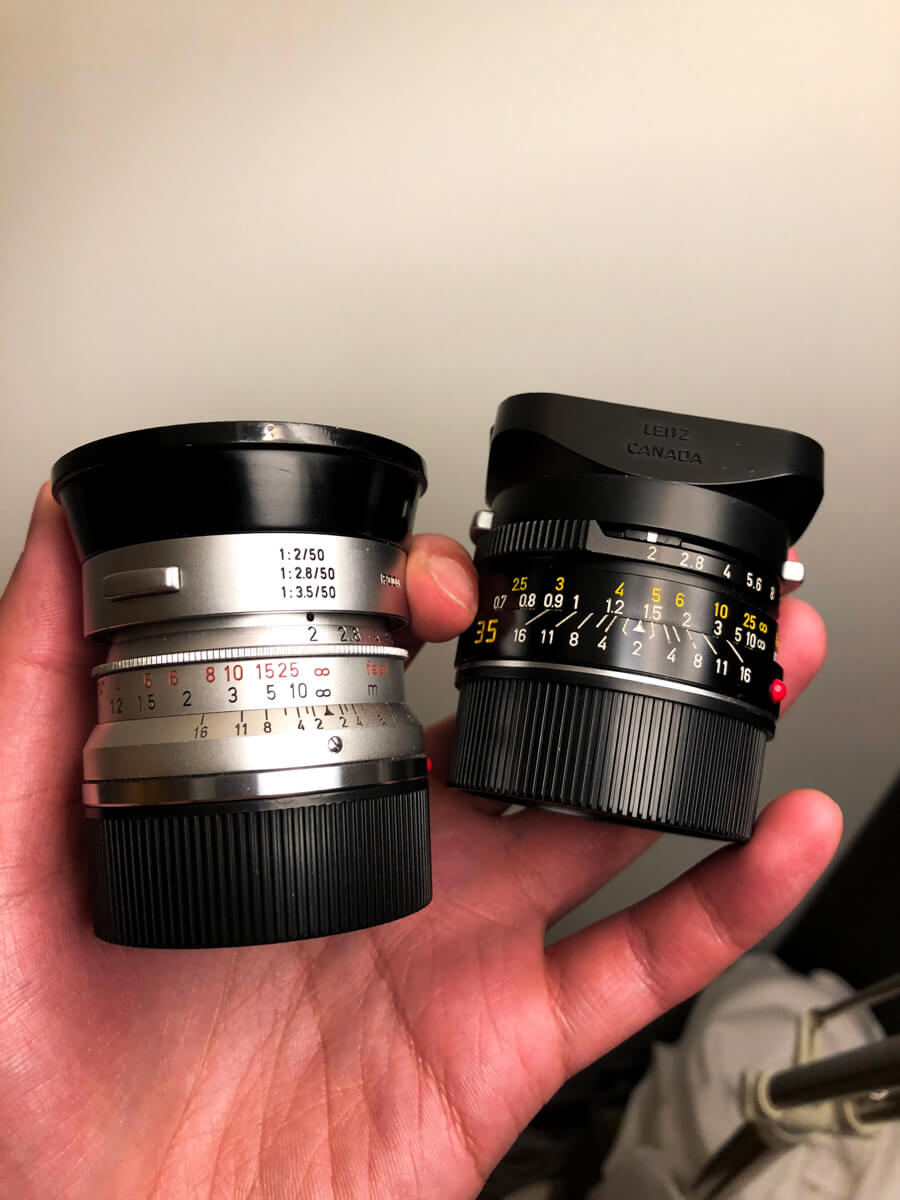 Summicron-competition-comparing-comparison-V1-vs-IV-pre-asph-35mm-f2-line-up-gears-leica-famous-popular-lenses