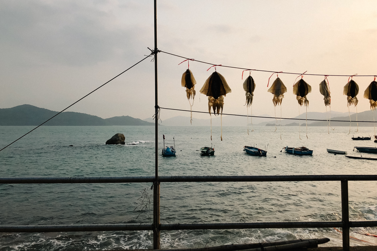signature-of-peng-chau-island-hong-kong-hk-852-dried-squid-traditional-chinese-food-culture-sunset-view-landscape