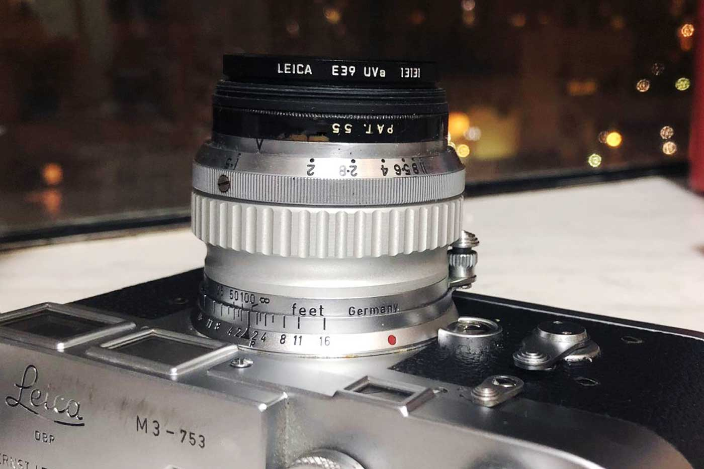 dallmeyer-septac-50mm-f1.5-1.5-50-cine-movie-cinelens-rare-super-six-legendary-vintage-modified-leica-m-mount-black-paint-test-review-film-photography-m3-side