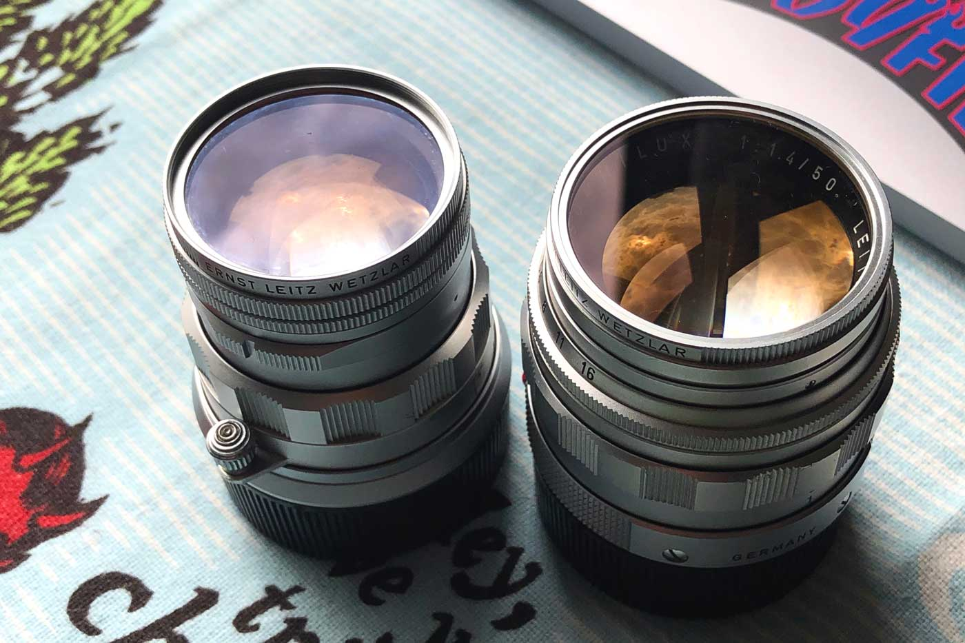 Leica-Summicron-50mm-50-f2-Rigid-Type-2-II-lens-review-colour-coating-lens-barrel-summilux-50mm-f1.4-v2
